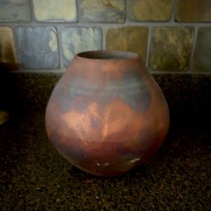 Mission Style Vase Iridescent Bronze Patina Finish